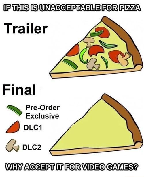 In. Champignons et olives en DLC... - meme