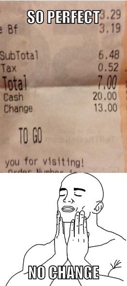 No change, so good. - meme
