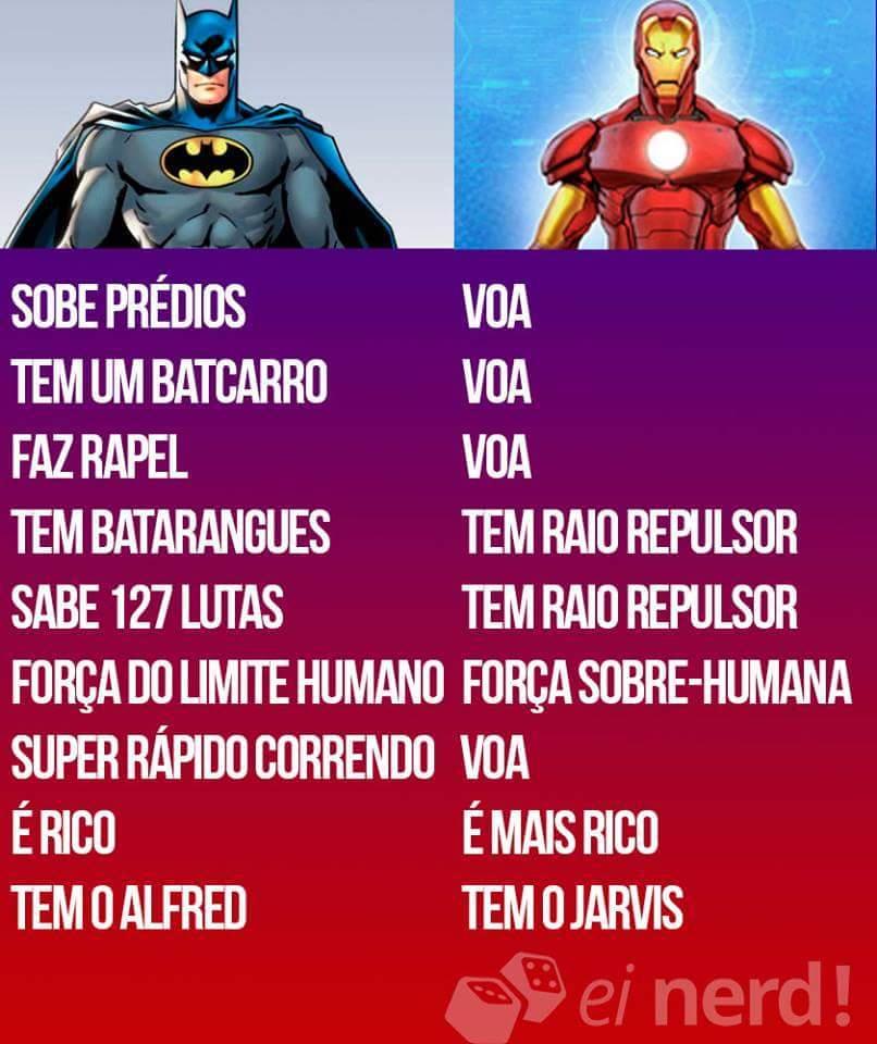Batman Vs homem de ferro - meme