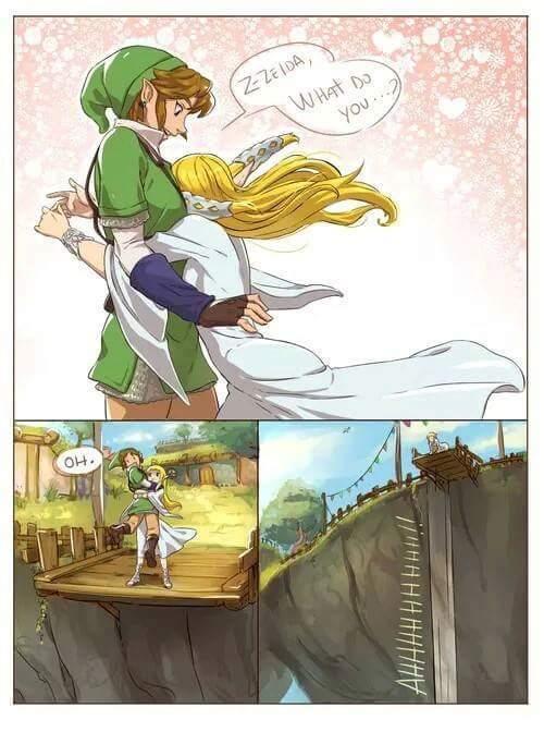 Z-Zelda? Maid qu'est ce que tu...   AAAAAAHHHH! - meme