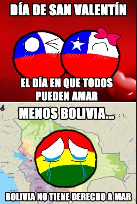 el titulo esta en el mar de Bolivia - meme