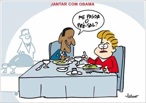 Dilma no jantar com o Obama - meme
