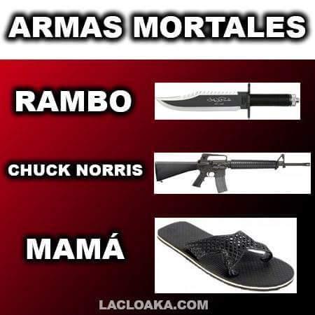 Mamá el arma mortal - meme
