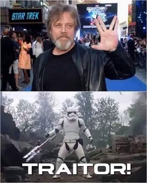 He just can't star in a star trek film - meme