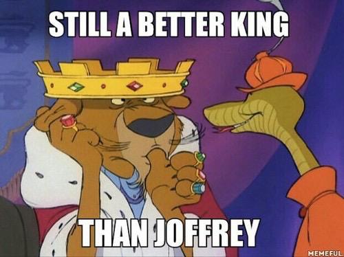Joffrey is GoT justin bieber just evil - meme