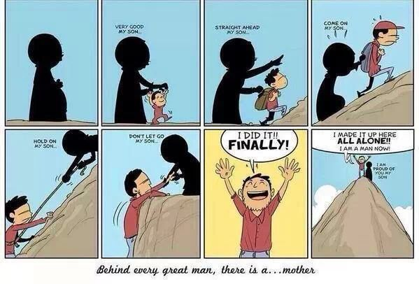 Thank your mother she makes you succeed. - meme