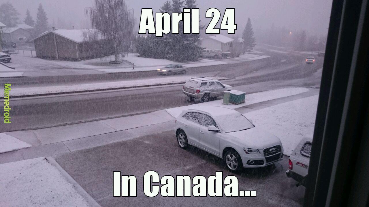 Spring in Canada - meme
