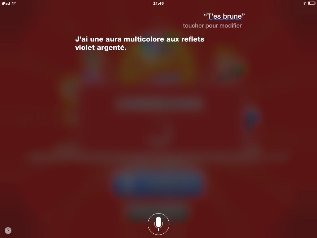 Maintenant Siri a une couleur de cheveux multicolores qui pars en couille
