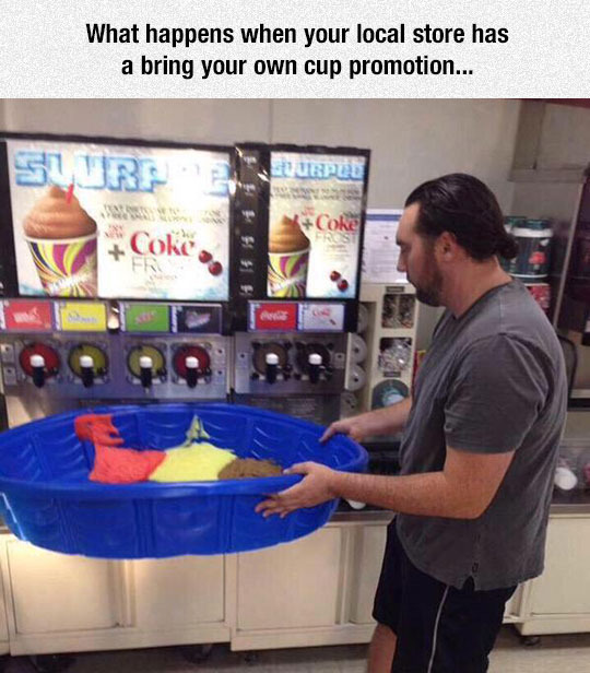 Bring your own cup - meme