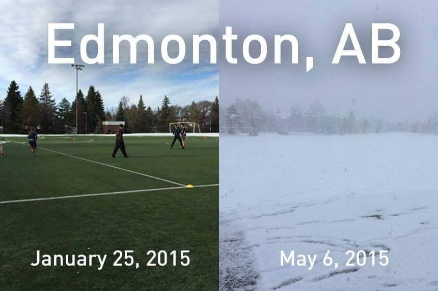 Just in case you thought Canada was always snowy or something - meme