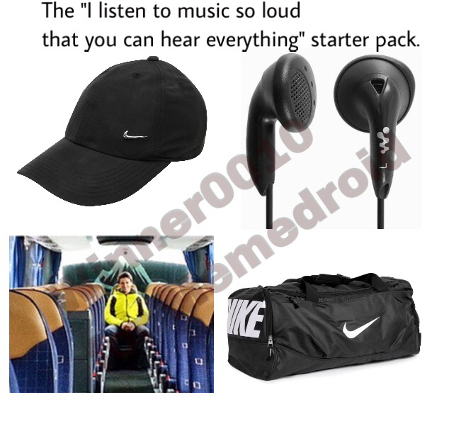 The guy on the bus who just came back from jogging - meme