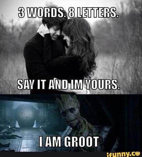 Groot is love - meme