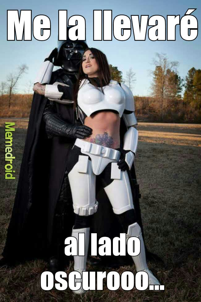 Ese Darth Vader es terrible... - meme