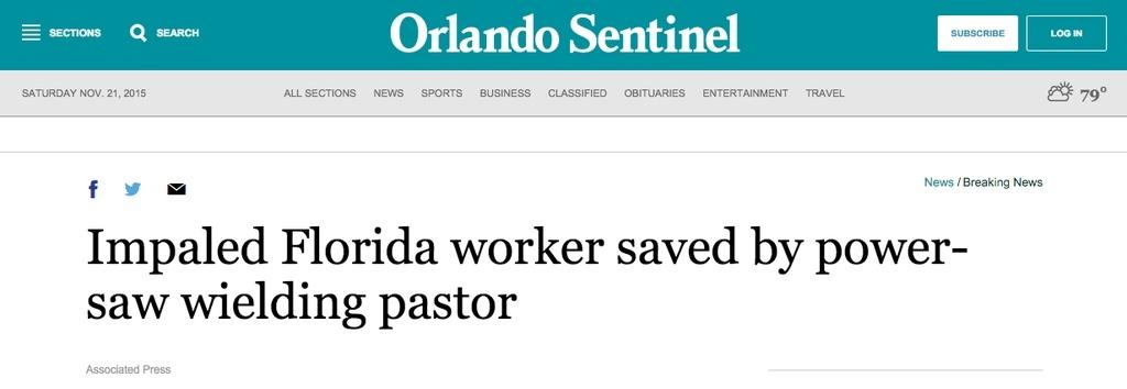 power saw wielding pastor - meme