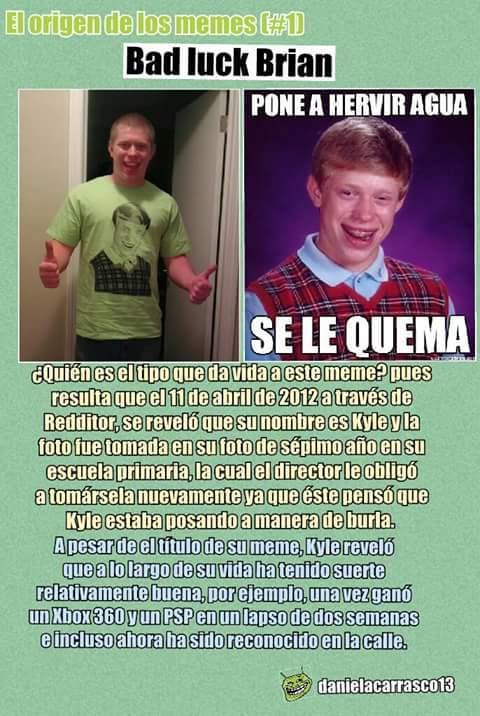 El origen: Bad luck Brian - meme