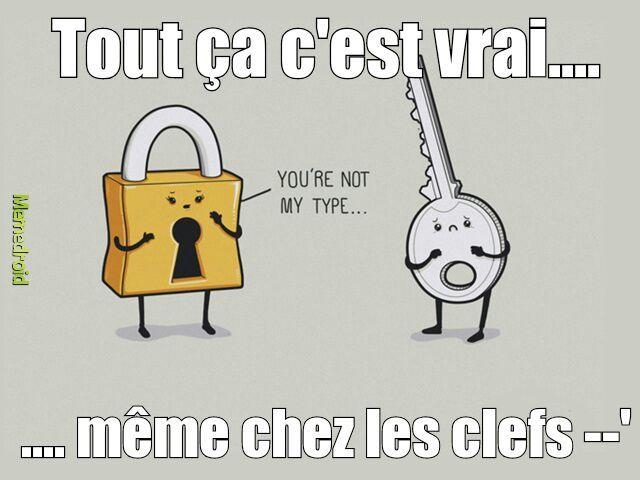 OMG meme les clefs s'y mettent.... (c'est mon premier post soyez indulgent svp ^^)
