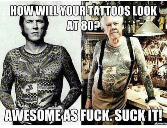 Tats are life - meme