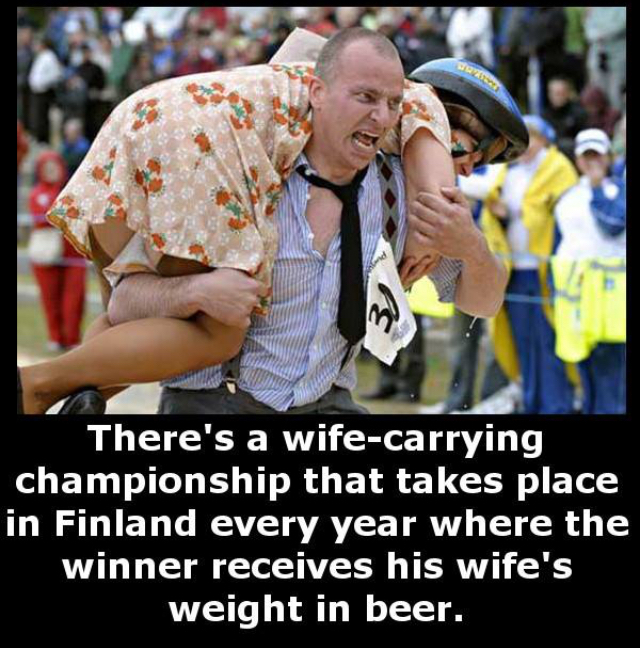 Wife-Carrying Championship - meme