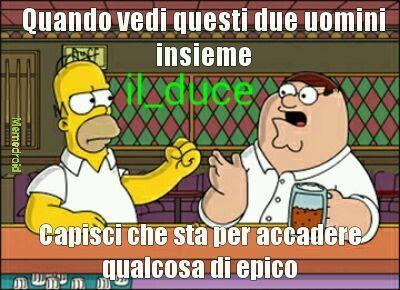 I Simpsons e I Griffin o (family guy) - meme
