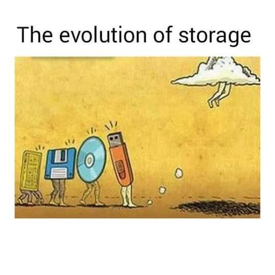 Cloud storage - meme