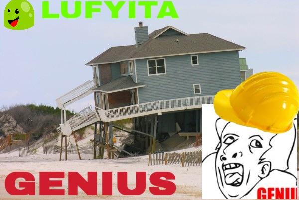 GENIUS costruire una casa su dei pilastri di legno...LEL nei commenti ditemi se volete fare un fumetto in coppia con me!! - meme