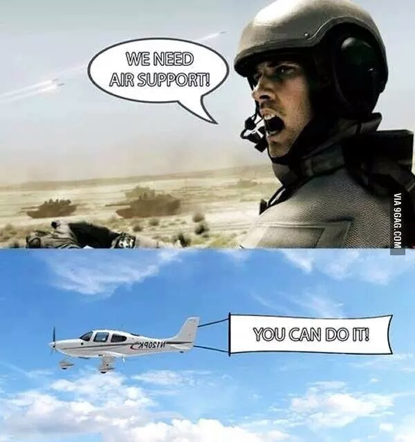 Air support... - meme