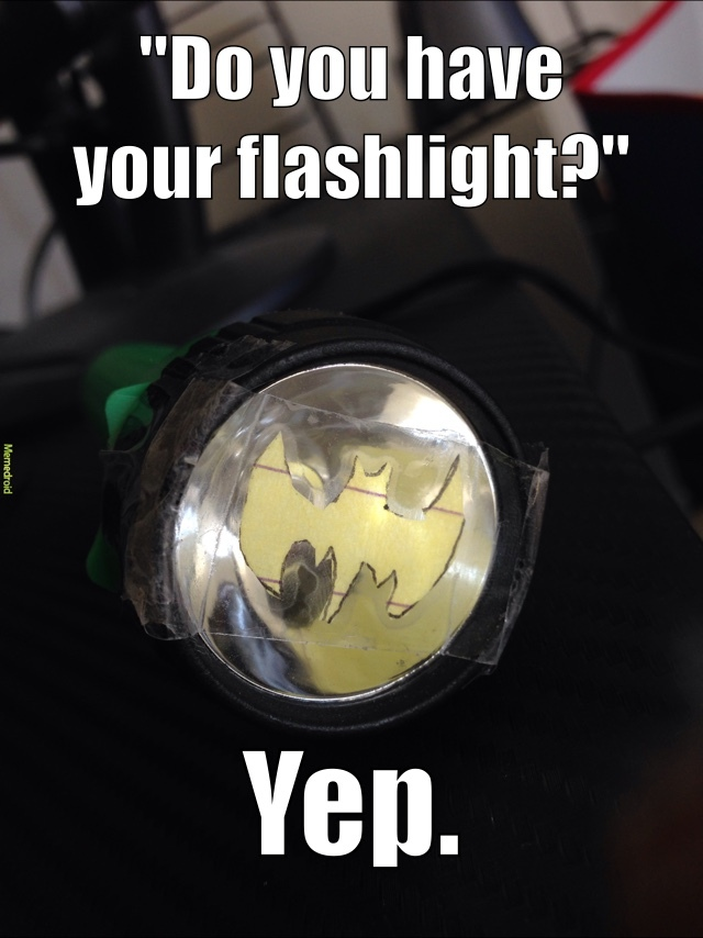 "The first time, I miss-spelled flashlight and said,""fleshlight"". - meme"