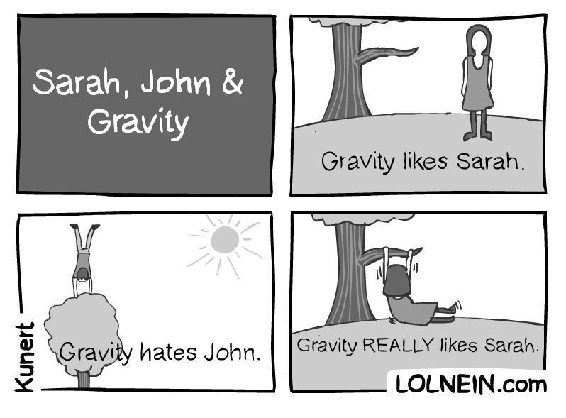 gravity is horny - meme
