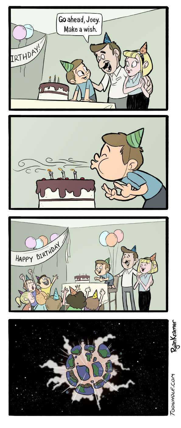 I can't guess what he wished for - meme