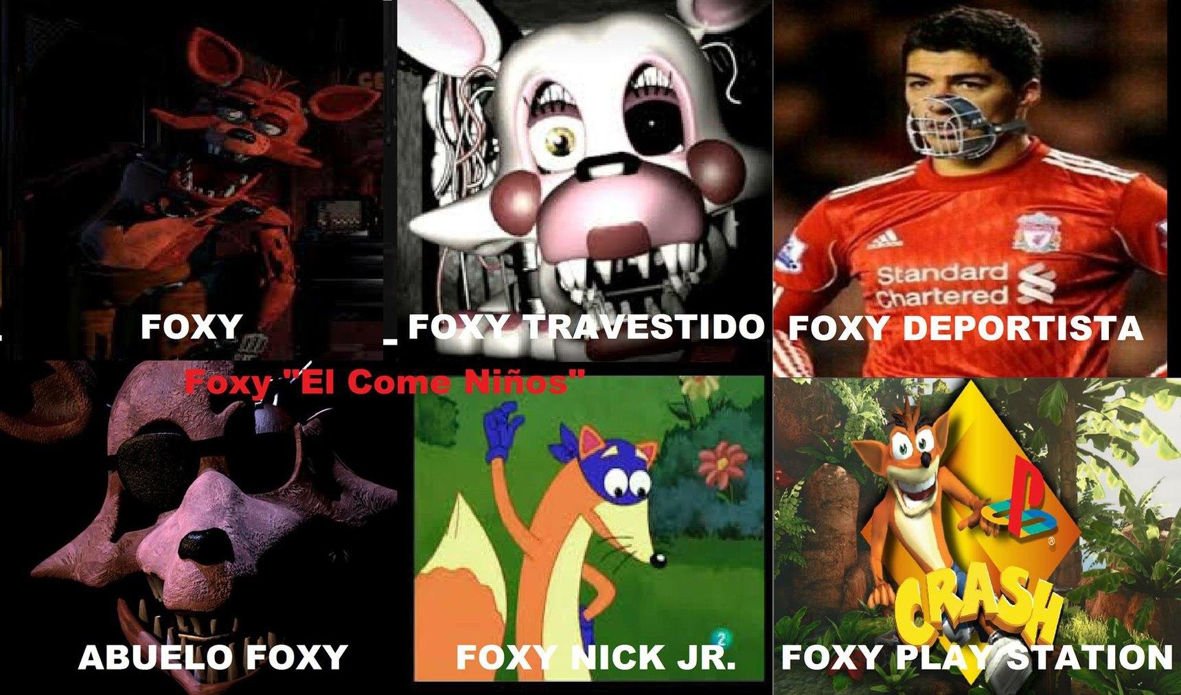 Las fases de Foxy :P - meme