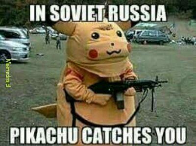 En Russie, c'est pikachu qui t'attrape - meme