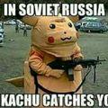 En Russie, c'est pikachu qui t'attrape