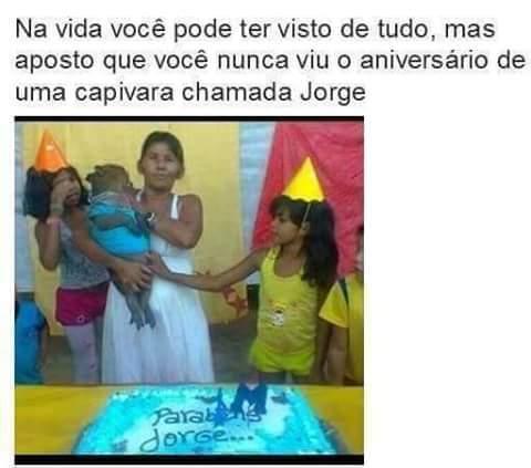 Feliz aniversário Jorge - meme