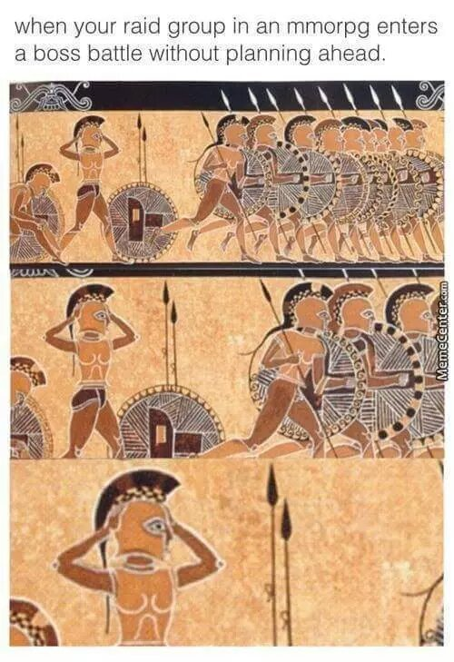 when ypur raid group - meme