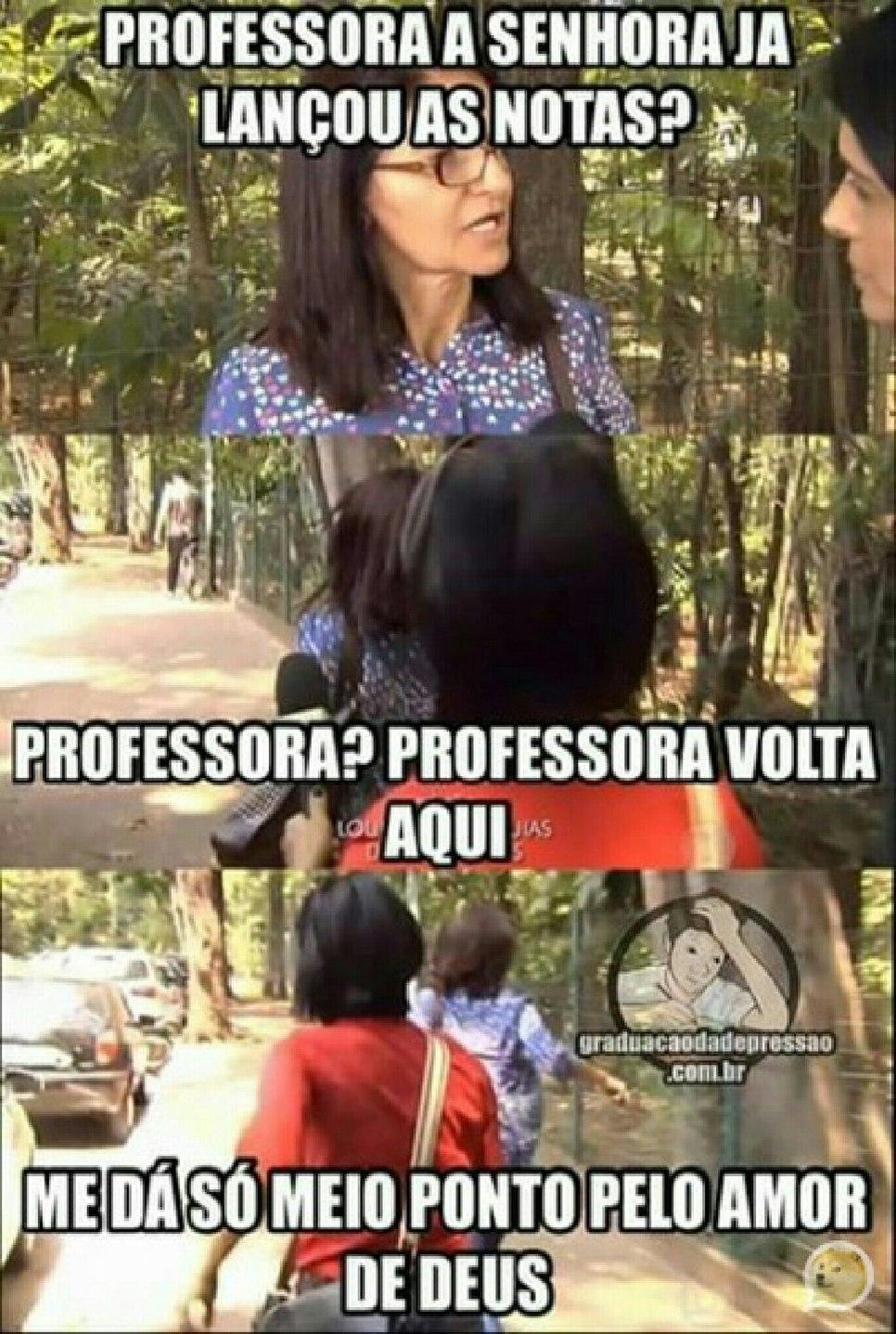Professora - meme