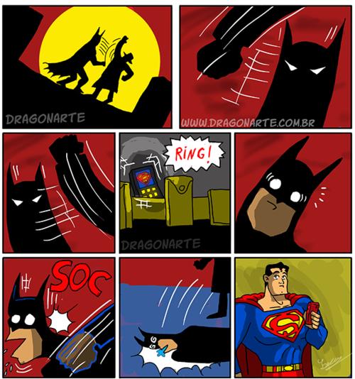 La raison pour laquelle Batman hait superman car c'est un super Bâtard - meme