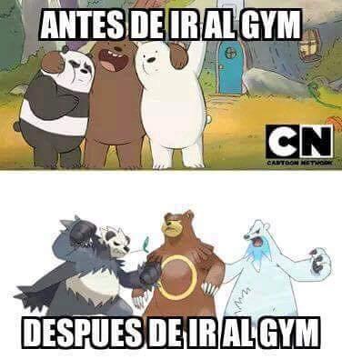 Antes y despues del gym - meme