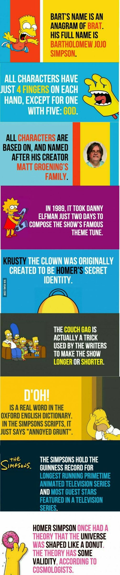 Some interesting Simpsons fun facts - meme