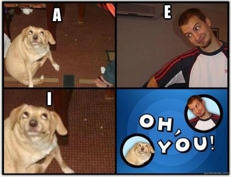 A,E,I,O,U :v - meme