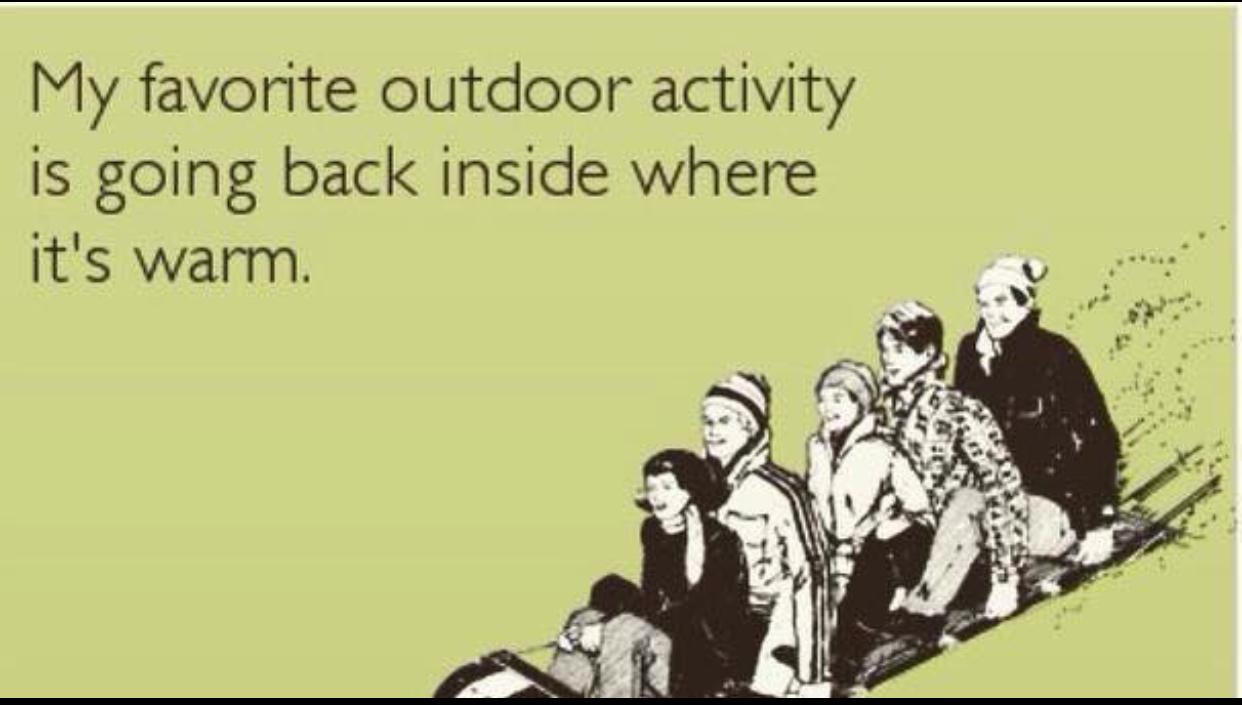 My favorite outdoor activity - meme