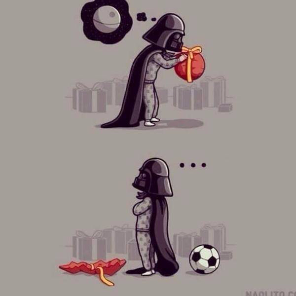 Típico: que te den una inútil pelota cuando quería una estrella para esclavizar el universo - meme