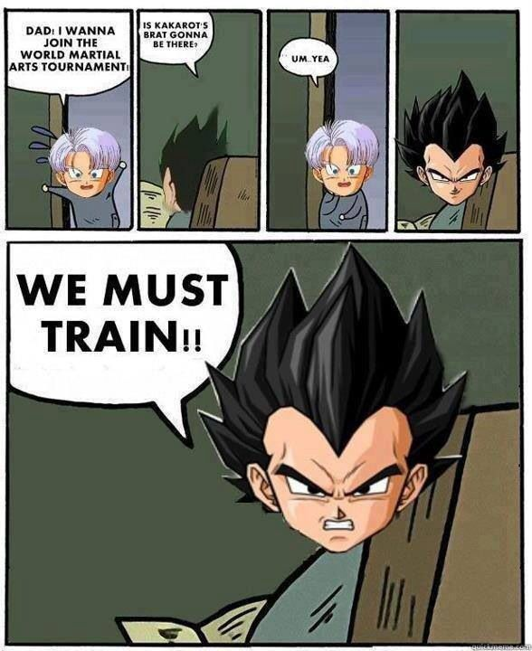 We must train by all means necessary!! - meme