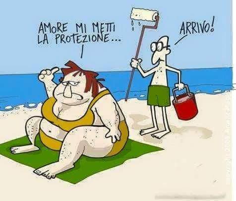 Nella spiaggia i problemi - meme