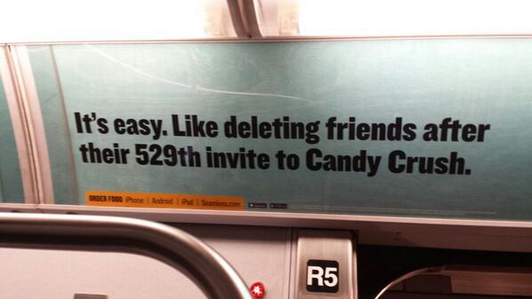 Ad on the train - meme