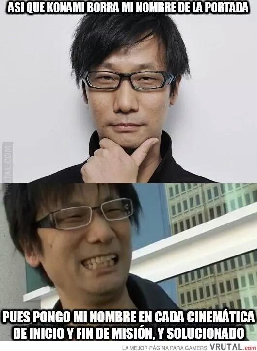 Hideo Kojima un genio - meme