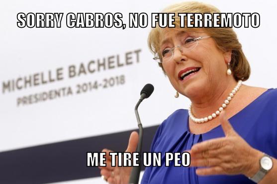Chilenos lo entenderan #AfueraBachelet - meme