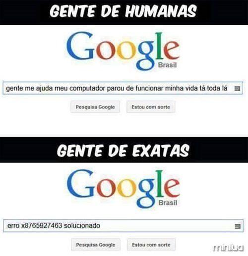 Exatas e humanas #1 - meme