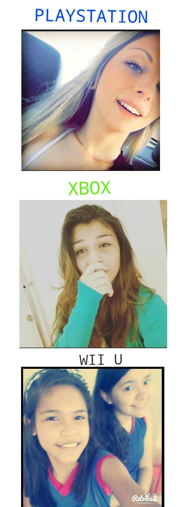 Playstation vs Xbox vs Wiiu - meme