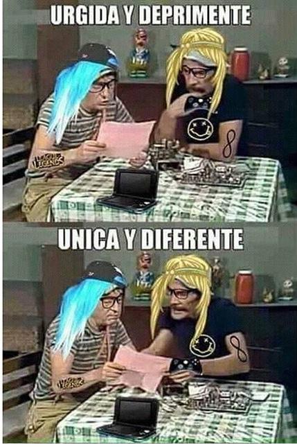 únicas y diferentes - meme