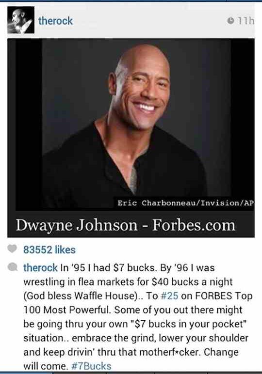 Dwayne Johnson is love - meme